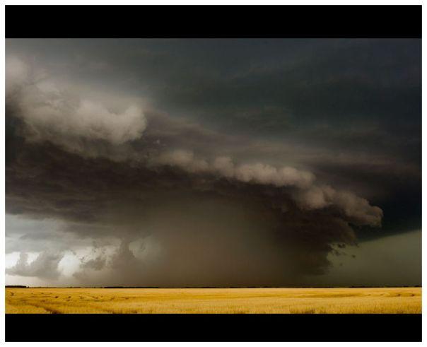 Derecho storm over Kansas