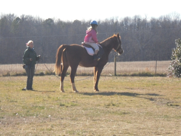 horseback riding on a lunge line