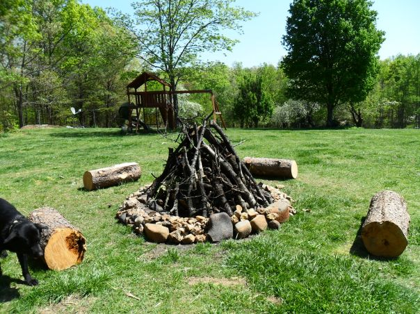 outdoor fireplace camp fire pit